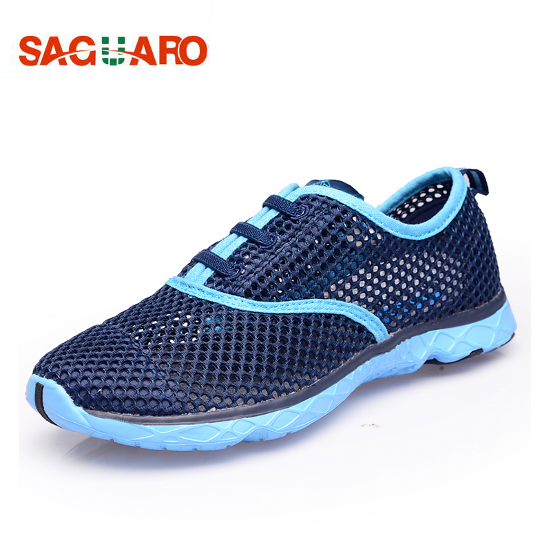 Clearance Shoes Men Summer Beach Water Shoes Light Breathable Mesh Sneaker Outdoor Walking Aqua Shoes Men Women Sneakers Zapatos men bowling shoes breathable mesh outdoor sneakers women platform good quality walking shoes aa10085