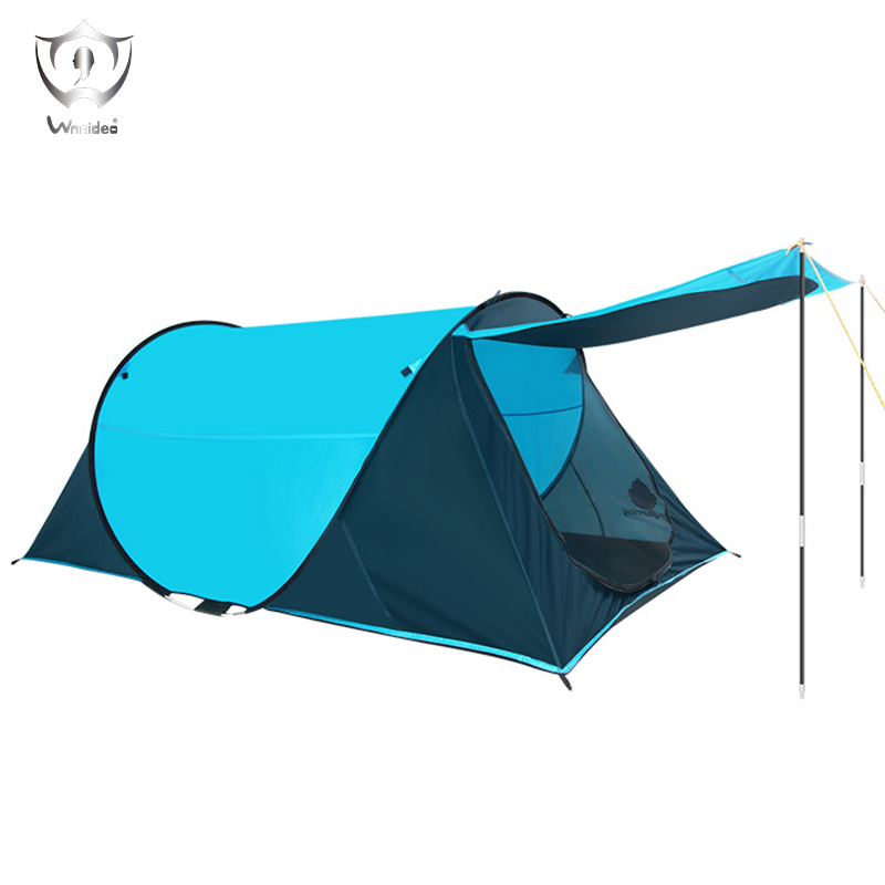 Wnnideo Instant Pop-up 2 Person Tent Portable Outdoor Camping Hiking for Couple Multi-color Wholesale high quality outdoor 2 person camping tent double layer aluminum rod ultralight tent with snow skirt oneroad windsnow 2 plus
