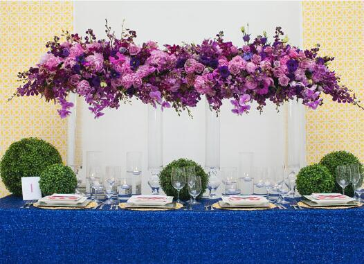 120x400cm(48x160 Inch) Royal Blue/Gold/Silver Embroidered Mesh Lace Seqin  Tablecloth For Wedding/Birthday Decoration Table Cloth In Tablecloths From  Home ...