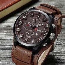 DOOBO D033 кварцевые часы для военных Для мужчин s часы лучший бренд класса люкс мужские наручные часы с кожаным ремешком Повседневное Спорт мужской часы Relogio Masculino
