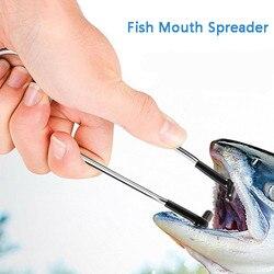 1Pc ze stali nierdzewnej odkryte palce i pięta rozrzutnik ryby szczęki rozrzutnik przenośne i lekkie ryby Gag otwieracz do ust ze stali nierdzewnej 17cm #25 w Narzędzia wędkarskie od Sport i rozrywka na