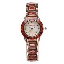 BEWELL Latest Luxury Brand Watch for Women Two-Tone Gems & Stone and Alloy Band Fashion Round Case Elegant Ladies 1066A