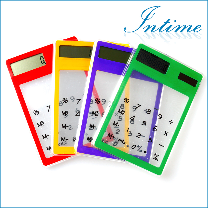 New Mini Transparent  Calculator Multi-color 8 Dig...