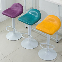 Openbare huis stoelen eetkamer restaurant meubels olie wax PU lederen zetel tentoonstelling stoel familie huishouden kruk