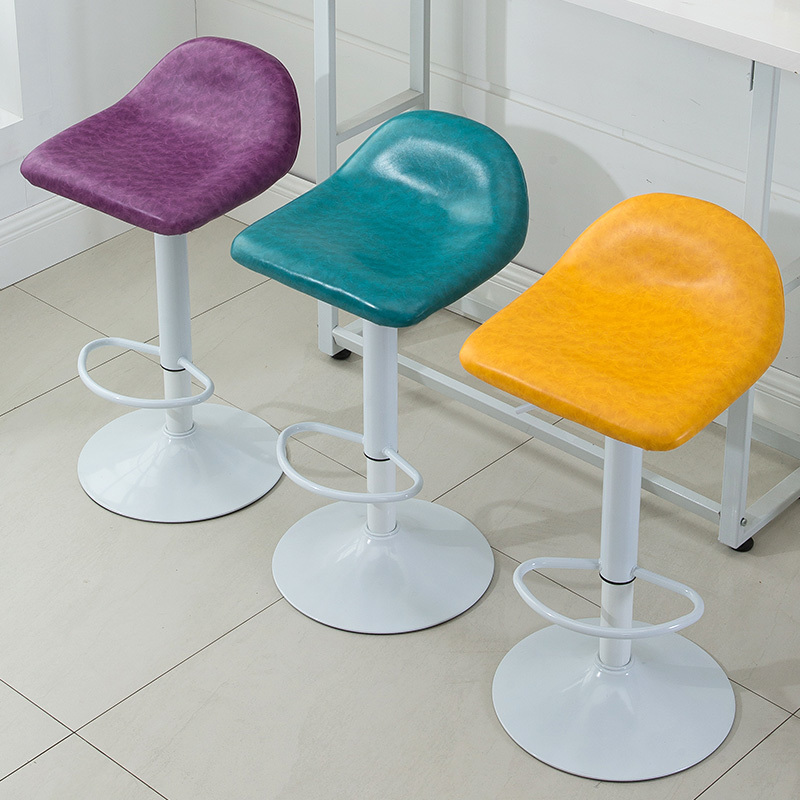 public house chairs dining room restaurant furniture oil wax PU leather seat exhibition chair family household stool