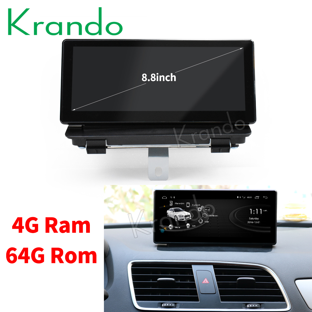 Krando Android 8 1 8 8 car radio dvd gps navigation for Audi Q3 2011 2017