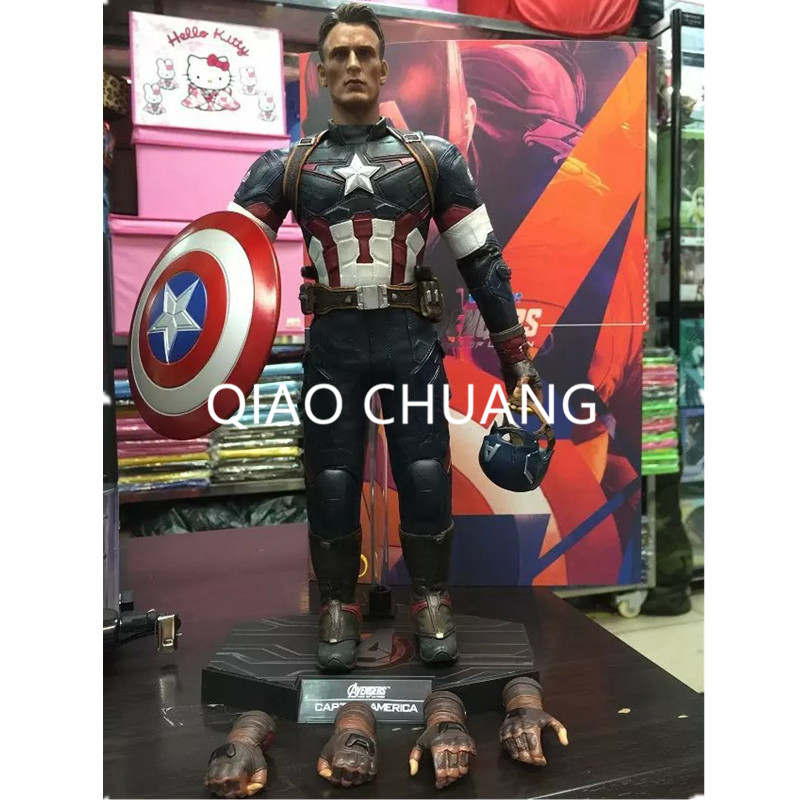 Avengers:Infinity War Justice League Super Soldier Steve Rogers Captain America 1/6 Scale Movable Action Figure Model Doll G96 metal colour the avengers civil war captain america shield 1 1 1 1 cosplay steve rogers metal model shield adult replica wu525