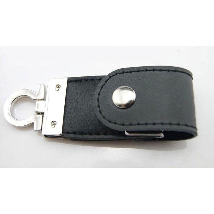 USB Flash Drive Leather Metal Keyring PenDrive Fashion Creativo USB 2.0 Stick 128gb 64gb 16gb 8gb Memory Flash Card Gift 1TB 2TB