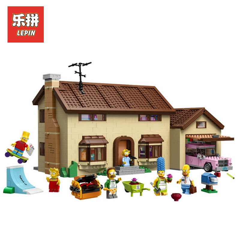 Lepin 16005 2575Pcs Simpsons family Kwik-E-Mart Set Building Blocks Bricks Educational Toys For Children Gift LegoINGlys 71006