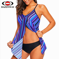 2019 Popular Woman One piece Swimsuit Female Striped Sexy Sling V neck Swimwear Top Beach Holiday Swimsuit Lady Swimming Top XL