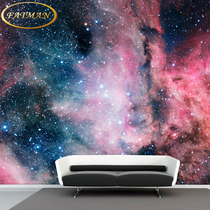 Custom 3D photo wallpaper space stars universe nebula living room sofa TV wall mural background wallpaper papel de parede custom 3d photo wallpaper waterfall landscape mural wall painting papel de parede living room desktop wallpaper walls 3d modern