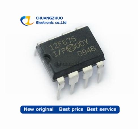50pcs/lot PIC12F675-I/P PIC12F675 DIP8 New Original Free Shipping