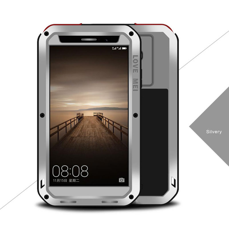 LOVE MEI POWERFUL case For Huawei Mate 20 Lite 9 phone case for Huawei Mate 9 Pro anti knocked Aluminum Gorilla Glass phone case
