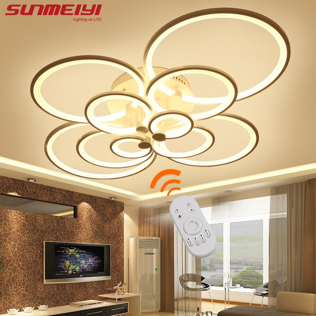 2017 surface mounted modern led ceiling lights for living room light fixture indoor lighting home decorative - Living Room Led Ceiling Lights