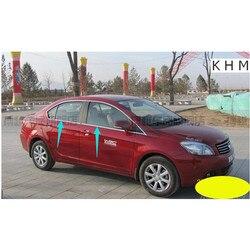 Wysokiej jakości stal nierdzewna okno samochodu listwa wykończeniowa (4 sztuk) dla 2010-2014 great wall C30