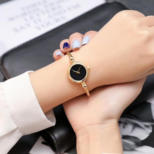 Woman Fashion Alloy Casual Stainless Steel Band Wristwatches Exquisite Quartz Br