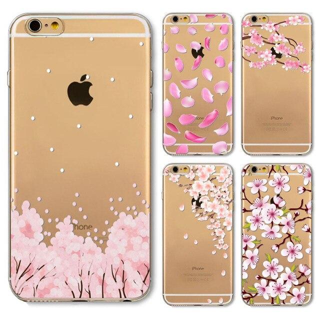 Roze Romantische Bloemen Gedrukt Ontwerp Zachte Tpu Mobible Telefoon