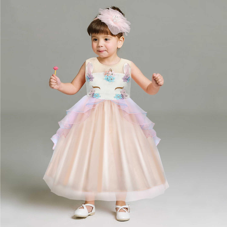 Платья с цветочным узором для девочек на Новый год; вечерние платья принцессы без рукавов с большим бантом для маленьких девочек; детское праздничное платье