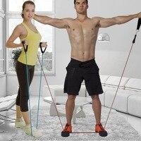 11 Sztuk/zestaw Odporność Pasa Pilates Lateksowej Rurki Ekspandery Praktyczne Wytrzymałość Odporność Kompania Zestawy Sprzęt Fitness Body Building