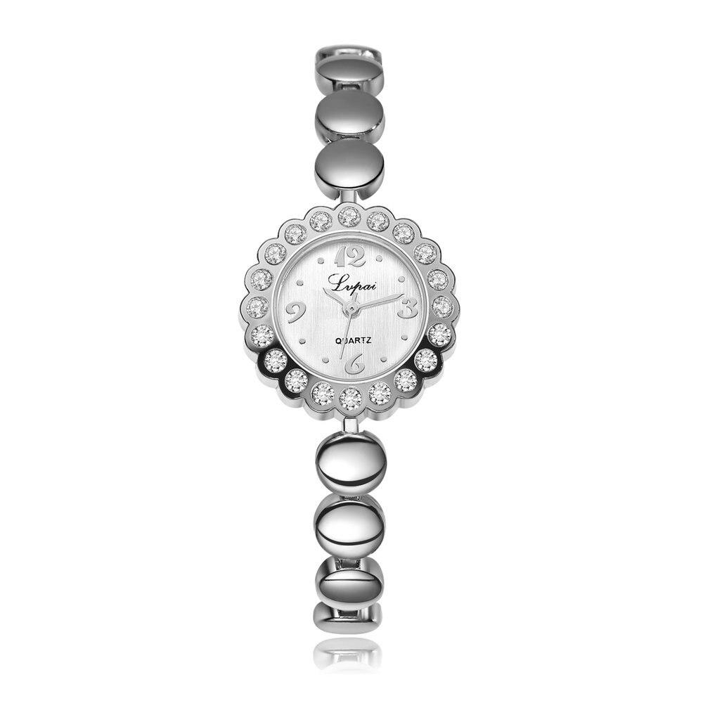 Luxury Women Bracelet Watches Fashion Women Dress Stainless Steel Wristwatch Ladies Quartz Watch Birthday Gift