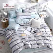 SlowDream Cartoon Style Bedding Set Flat Sheet Double Queen King Comfort Home Decor Bed Linings 3/4PCS Bedspread Textiles