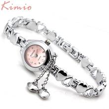 KIMIO Simple Petit Cadran Amour Décoration Bracelet Dames Célèbre Marque Femmes De Luxe Montres Femmes Quartz-montre Femme Montre-Bracelet