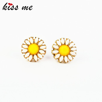 ed00292 KISS ME New Style Fashion Accessories Daisy Flowers Women's Earring Factory Wholesale image