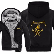 Winter Metallica Sweatshirt Men Casual Wool Liner Pullover Warm Thicken Hooded Coat Heavy Metal Rock Band Metallica Hoodies(China)