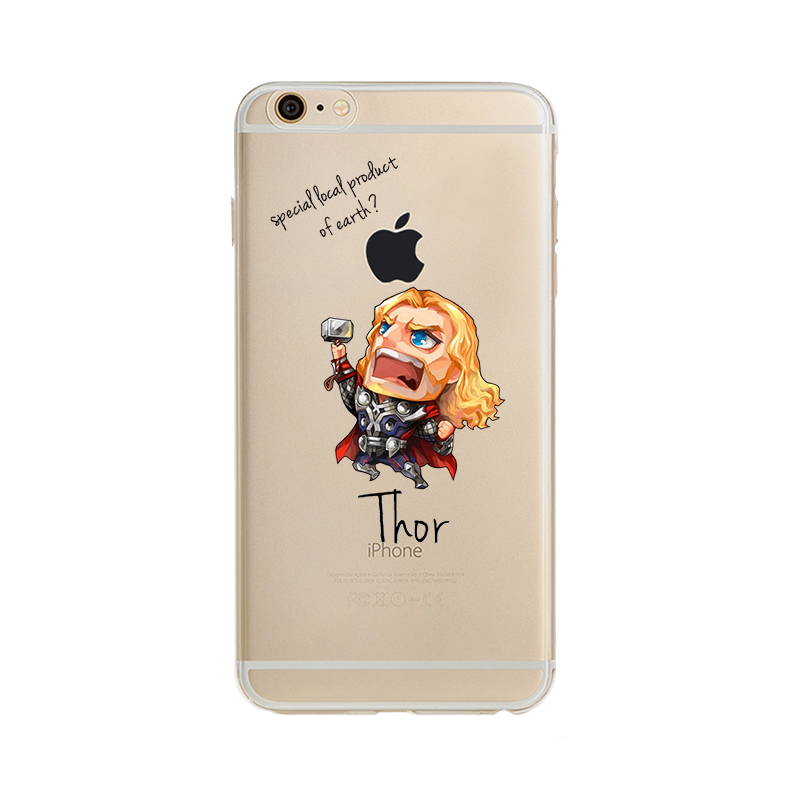 The Avengers Phone Case iron Man Captain America batman spider man Cover For Apple iPhone5 5S SE 6 6S 6plus 7 7p