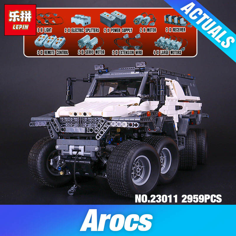 2016 New LEPIN 23011 2959 pcs Technic Series Off-road vehicle Model Building Kits Block Educational Bricks Compatible Toys Gift lepin 22001 pirate ship imperial warships model building kits block briks gift 1717pcs compatible child educational toys 10210
