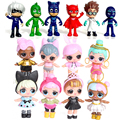 Christmas Action pjmasks figure 8-9cm Pj Masks Characters Catboy Owlette Gekko Cloak Toys Boy Birthday Gift Plastic LOL Dolls