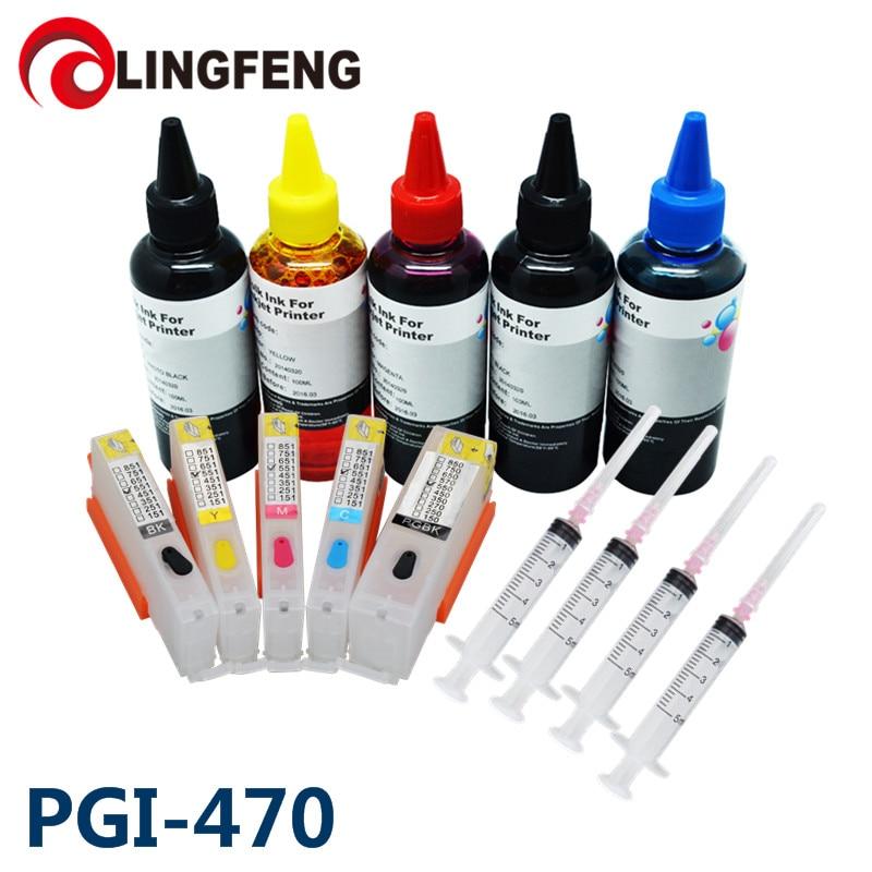 Recharge kit encre imprimante encre et cartouche vide rechargeable avec outil de recharge pour imprimante Canon PIXMA MG6840 MG5740 TS5040 TS6040