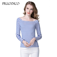 Womens Summer Striped T Shirt Short Sleeve Casual Modal Black Blue Red Grey Color Tops Tees