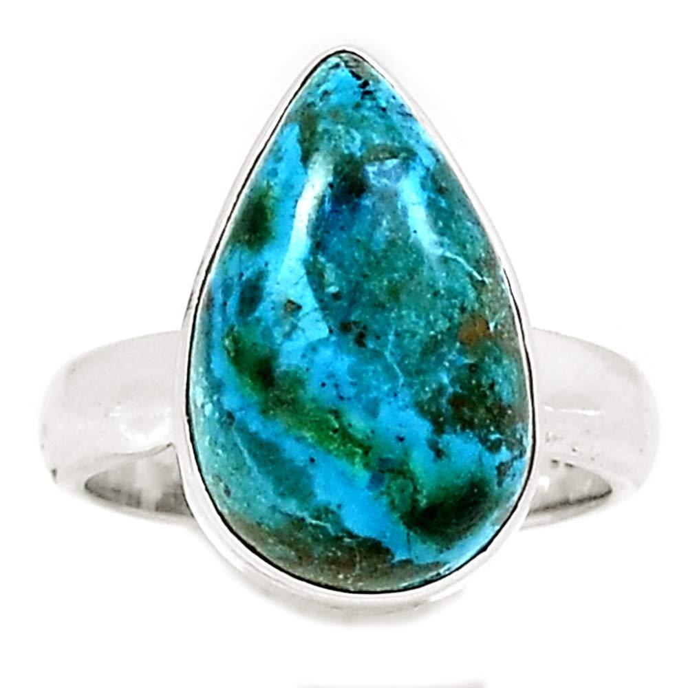 New Fashion Niaozaifei Yunzaikan Genuine Chrysocolla Peru Ring 925 Sterling Silver,usa Size :6.5, Mhbar3943