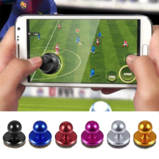 BLACK Mini Game Joystick Mobile Phone Physical Game Joysticks Fling Touch Screen Rocker For iPhone/Pads/HCT/Samsung Smart Phones