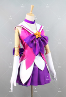 LOL Lux Cosplay Costume Christmas Dress Costom Made Free Shipping Shirt+Skirt+Gloves+Socks+Bowknots+Five Pointed Stars B
