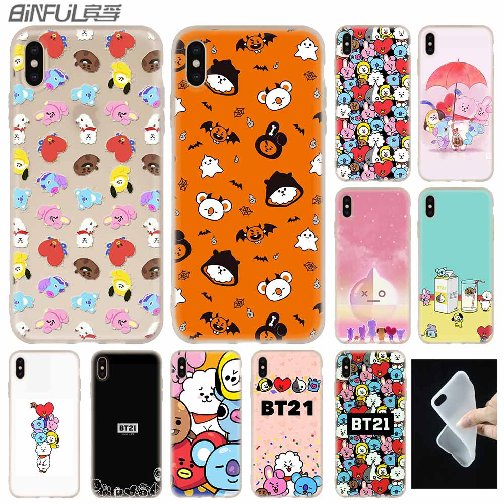 Purposeful Bt21 X Bts Bangtan Boys Cover Case Silicone Soft For Iphone X Xs Max Xr 6 6s 7 8 Plus 4 5s Se 9 Phone Cases Promote The Production Of Body Fluid And Saliva Phone Bags & Cases