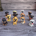 12 Pieces Dogs Resin Crafts Toy True Dog Ornaments Party Toys Funny Novelty Toys Halloween Recreational Supplies Children