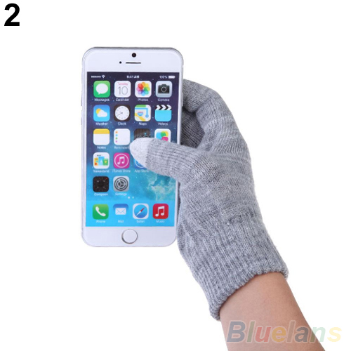 Bluelans Style Women's Men's Knitted Wool Hand Wrist Warmer Touch Screen Winter Gloves Hot Selling