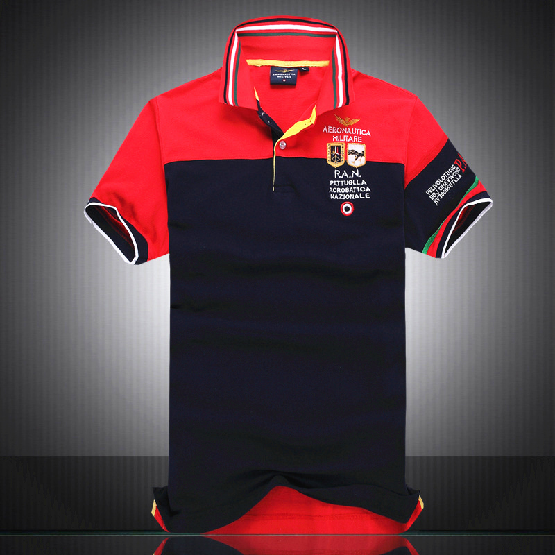 4c2d67bbd3ec 100% Cotton Aeronautica Militare POLO shirt Men Italy Brand Clothing  Camicia Camiseta Camisa Acrobatica Nazionale