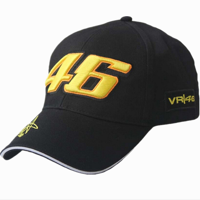 2015 New Design F1 Racing Cap Car Motocycle Racing MOTO GP VR 46 Rossi Embroidery Sport Hiphop Cotton Trucker Baseball Cap Hat