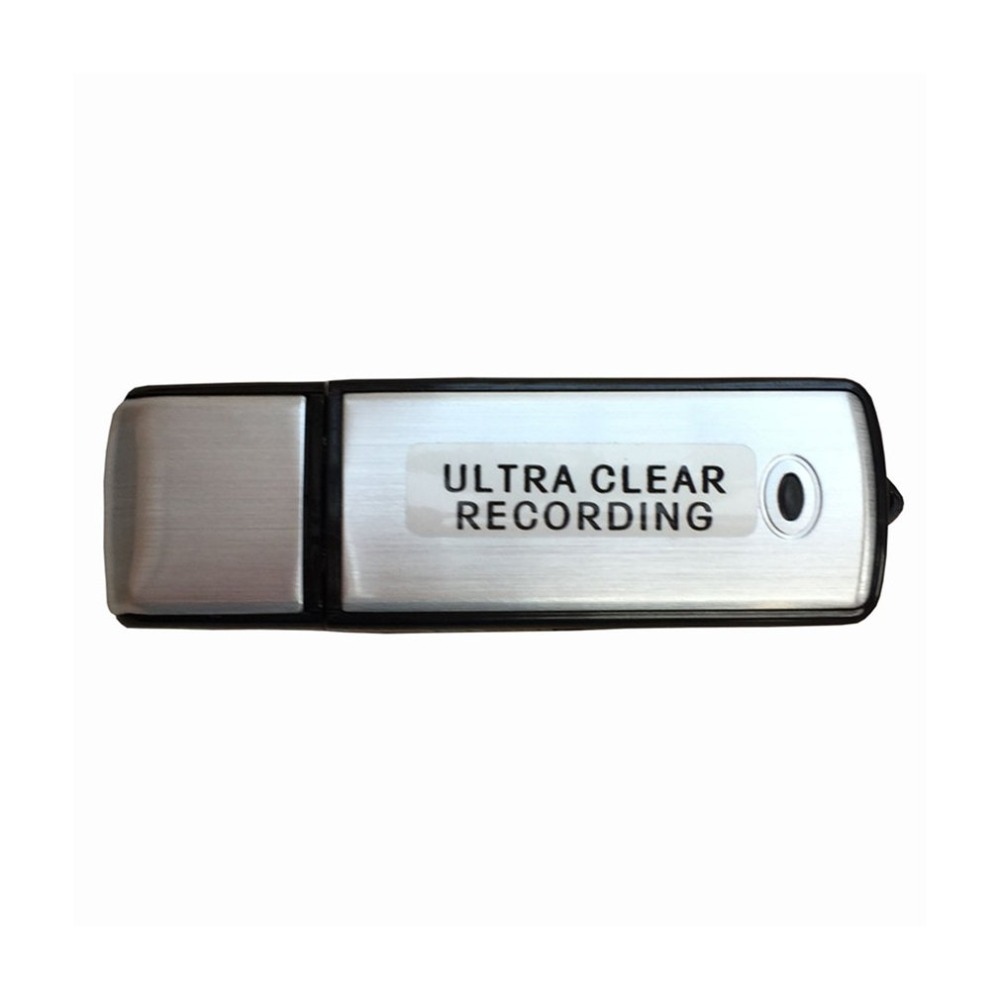 Mini Audio Voice Recorder 8/16G USB Rechargeable Ultra Clear Recording Dictaphone USB Flash Drive for Meeting
