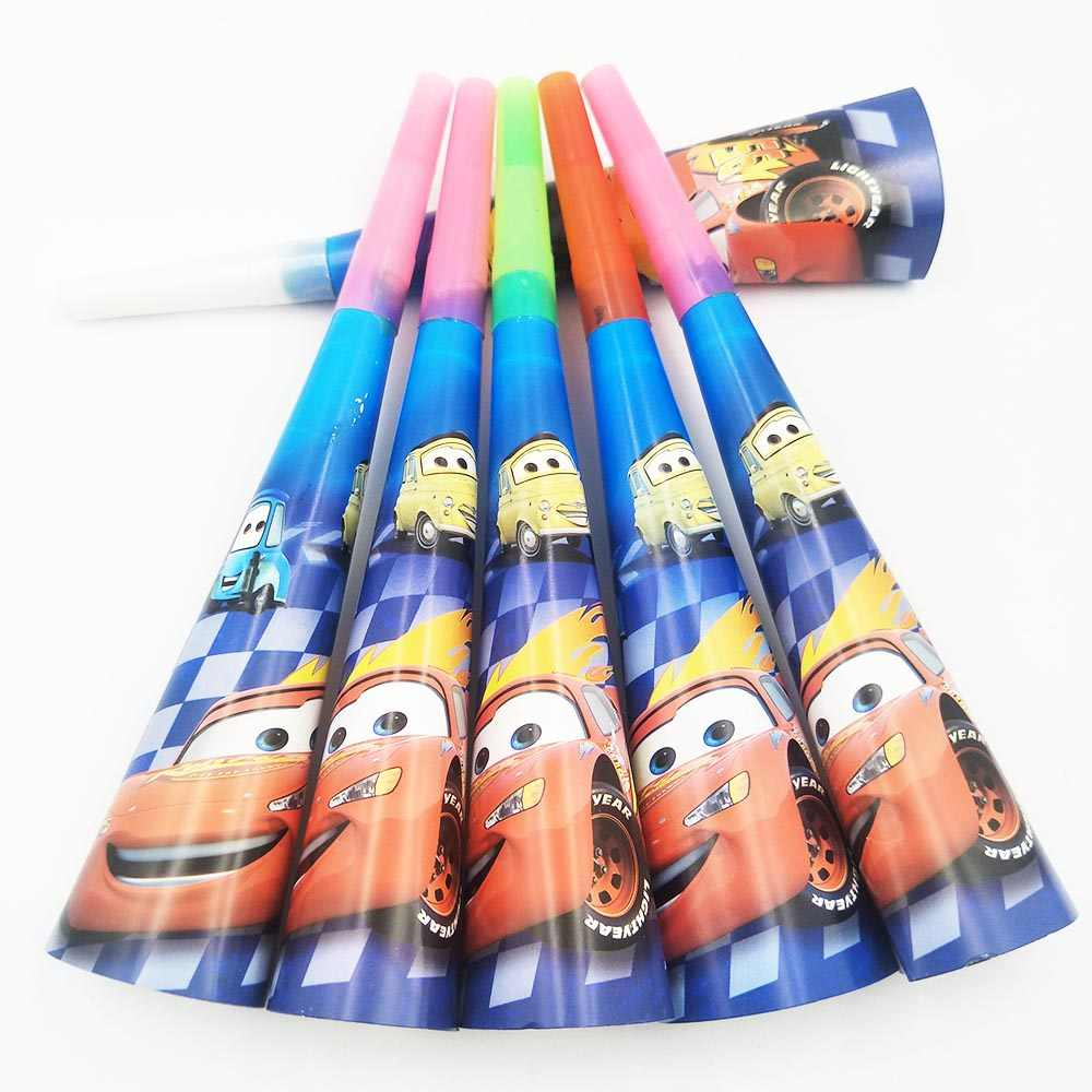 Disney Cars McQueen วันเกิด Party Straws ถ้วยแผ่นผ้าปูโต๊ะธงไม้จิ้มฟัน Party Supplies เด็กวันเกิด Party ตกแต่ง