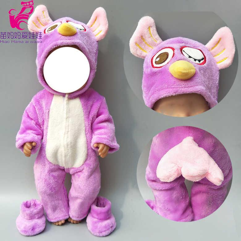 Новое поступление, 38 см, Одежда для куклы, 43 см, одежда для маленьких мальчиков, штаны, серый комплект с мышкой, 17 дюймов, меховой комбинезон