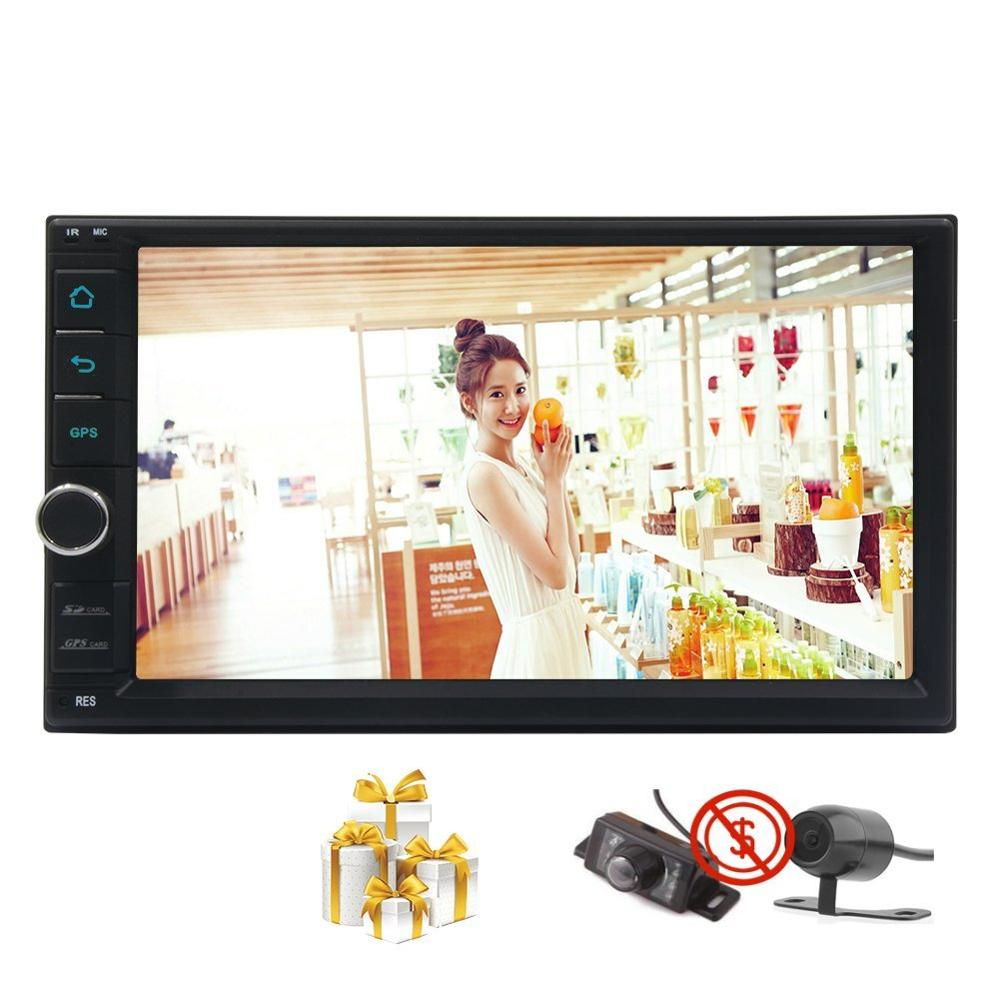 Front&Reverse Camera Android 7.1 Car Stereo Touchscreen GPS Radio Bluetooth Free map USB/SD Automotive Head Unit Player DVR OBD2
