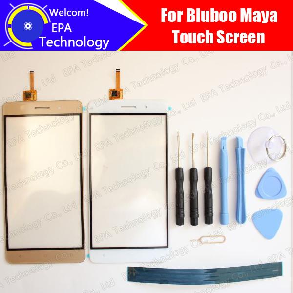 Maya Bluboo Pantalla Táctil Digitalizador 100% de Garantía Original Del Panel Táctil de Cristal Digitalizador de Pantalla Para Maya + herramientas + Adhesivo
