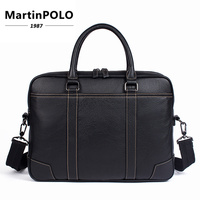 Men Briefcase Male Totes Men's Bag Man Genuine Leather Laptop Bag for Business Briefcases Men Leather Bags Briefcases MLT9879