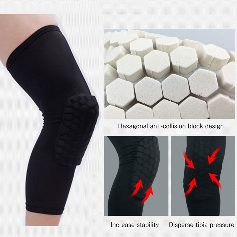 FLYBAZZZ Breathable Basketball Knee Pad Calf Supports Sports Safety Kneepad Bumper Brace Kneelet Leg Sleeve Knee Pad Protector
