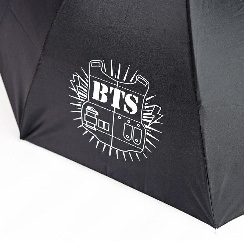 calidad autentica seleccione original nueva lanzamiento € 9.44 |Aliexpress.com: Comprar Kpop BTS Logo paraguas plegable protector  solar protección anti UV de logo umbrella fiable proveedores en Ewish