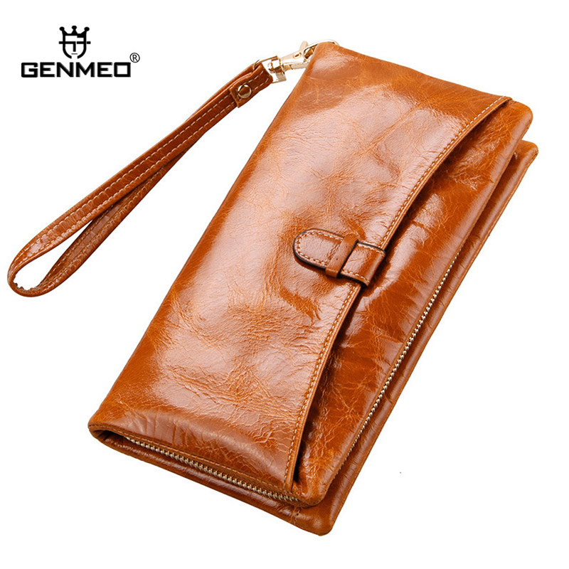 MAIFEINI New Arrival Genuine Leather Wallets Women Real Leather Card Holders Coin Purse Ladies Clutch Money Bag yuanyu 2018 new hot free shipping real python leather women clutch women hand caught bag women bag long snake women day clutches